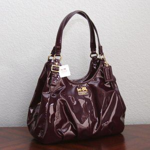 Coach 18760 Madison Maggie Purple Patent Leather